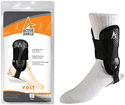 Active Ankle Volt Rigid Ankle Brace, Black, Small (1 Each)