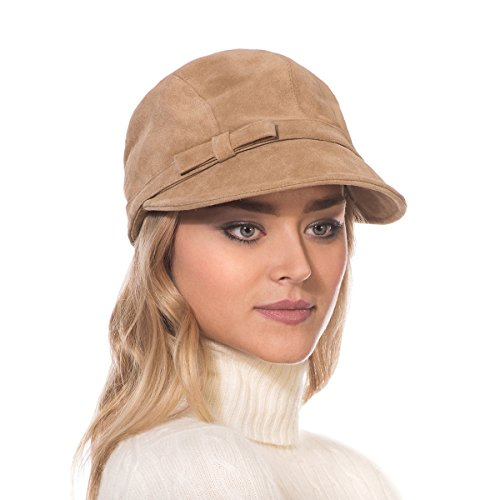 Eric Javits Luxury Fashion Designer Women's Headwear Hat - Cap d'Hiver - Camel by Eric Javits