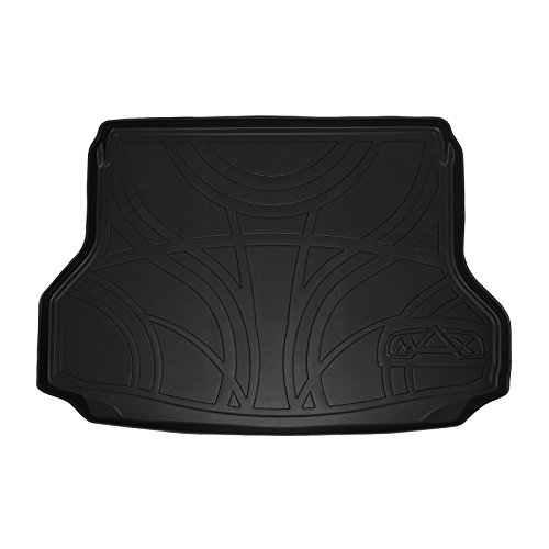 MAXTRAY All Weather Cargo Liner Floor Mat Black for 2014-2018 Nissan Rogue Without 3rd Row Seats (No Rogue Sport or Hybrid - Weather Cargo All Liner