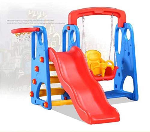 Toddler Swing Set Swing Slide Tots Indoor Outdoor Swings Seat Infant Playground Baby Play Swingset for Kids Slide Bucket Child Backyard Safe Kid Slides