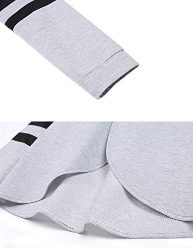 Zearo Casual Femme Survêtement Sweatshirt à Capuche + Pantalons - Hoodies 2Pcs Sportswear Suit Set