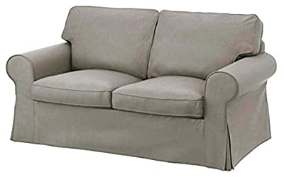 The Ektorp Two Seater Sofa Bed Cover Replacement is Custom Made for IKEA Ektorp 2 Seater Sleeper Only, A Quality Sofa Slipcover Replacement