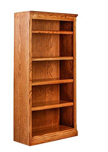 Forest Designs Mission Oak Bookcase: 30W X 60H X 13D 60h Golden Oak