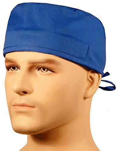 Sparkling Earth Mens and Womens Medical Scrub Cap - Royal - Blue Cap Scrub