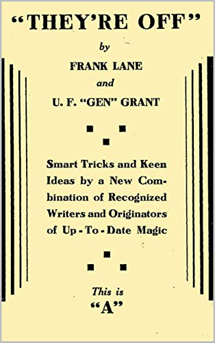 """U.F. Grant & Frank Lane: """"They're Off"""" for sale  Delivered anywhere in USA"""