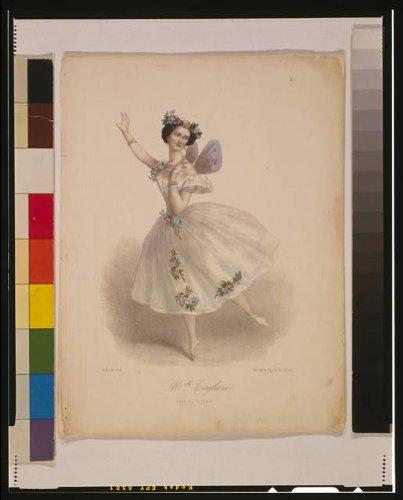 [Photo: Mademoiselle Marie Taglioni, dans la sylphide, Paris, France, Ballet, 1850 . Size: 8x10] (La Sylphide Costume)
