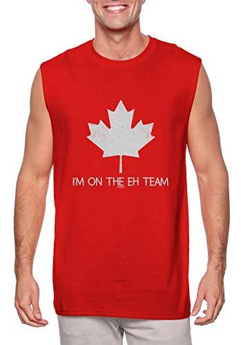 I'm On The Eh Team - Canadian Canada Men's Sleeveless Shirt (Red, Medium)