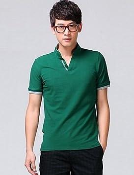 HBJ cuello la coreana aleatoria polo de manga corta para hombres ...