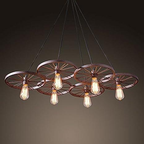 GQLB Ferro da stiro lampadari stile Liberty lampadario industriale ...