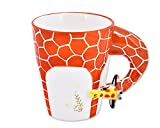 Shopready 3D Giraffe Ceramic Coffee Mug Animal Series Milk Cup