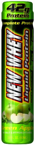 New Whey 42 Grams Liquid Protein Dietary Supplement, Green Apple, 3.8 Ounce (12 Count)
