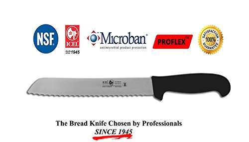 ICEL Cutlery 8-inch wavy edge Bread Slicer knife. NSF Approved, Black Handle by ICEL (Image #2)