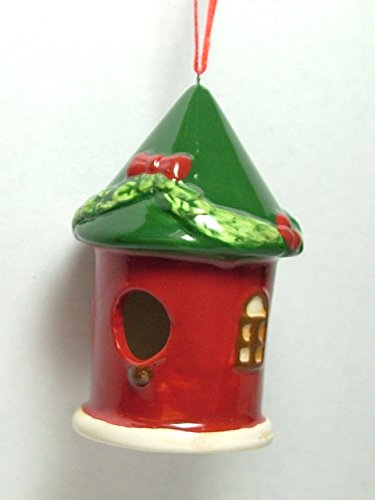 Dol Green Roof Garland Birdhouse Song Bird House House Christmas Tree Ornament D Bird House Christmas Tree Ornament