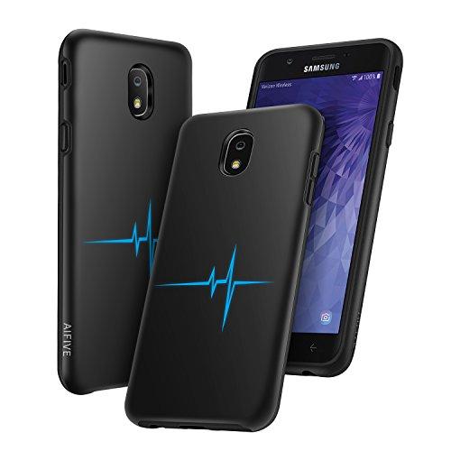 Samsung Galaxy J3 2018 Case, J3 Star/J3 Eclipse 2/J3 Achieve/Express Prime 3/J3 Prime 2/Amp Prime 3/J3 Emerge 2018 Case, AIFIVE Premium TPU & PC 2 in 1 Ultra Slim Shockproof Protective Cover (Black)