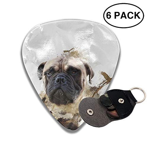 Colby Keats Guitar Picks Plectrums Baby Animals Dog Classic Electric Celluloid Acoustic for Bass Mandolin Ukulele 6 Pack 3 Sizes .71mm]()