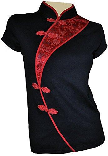 Amazing Grace Sexy Chinese Dress Top (Large, China Black) (Asian Women Sexy)