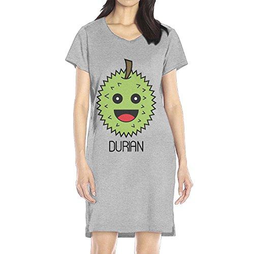 Brandy Melville Halloween Costumes (Hoeless Cute Durian Women's Short Sleeve Casual T-Shirt Dress LAsh)