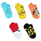Pokemon Assorted 5-pack No Show Mens Socks