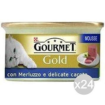 Purina Juego 24 Gourmet Gold Mousse merluzzo Zanahoria Gr 85 Comida para Gatos: Amazon.es: Productos para mascotas