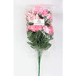 Admired By Nature 24 Stems Artificial Full Blooming Tiger Lily, Peony & Hydrangea with Green Foliage Mixed Flowers Bush for Mother's Day or Decoration for Home, Restaurant, Office & Wedding, Velvet 3