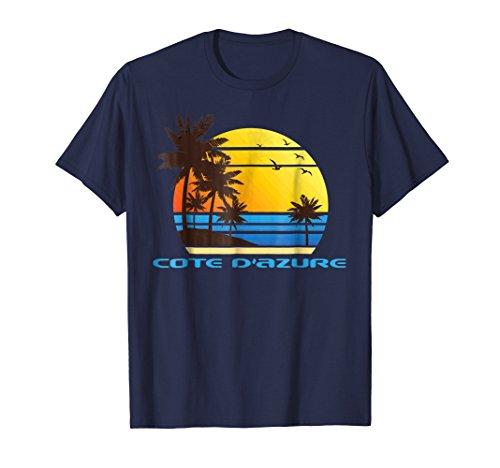 Cote D'Azur Beach Surf T-Shirt Summer Sun Fun Tee Shirt