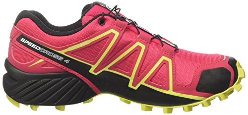 Salomon Damen Speedcross 4 Kletterschuhe Mehrfarbig (Virtual Pi/bk/sulphur Sp)