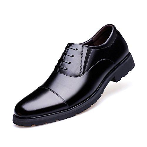 LYZGF Hommes De Printemps Et D'automne Affaires Mode Casual Chaussures En Cuir De Grande Taille Black