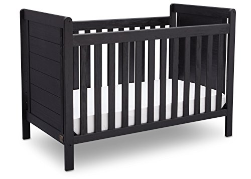Serta Cali 4-in-1 Convertible Baby Crib, Rustic Ebony