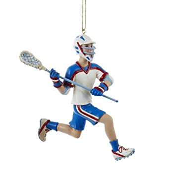 Image Unavailable - Amazon.com: Kurt Adler 5-Inch Lacrosse Boy In Blue Uniform Christmas