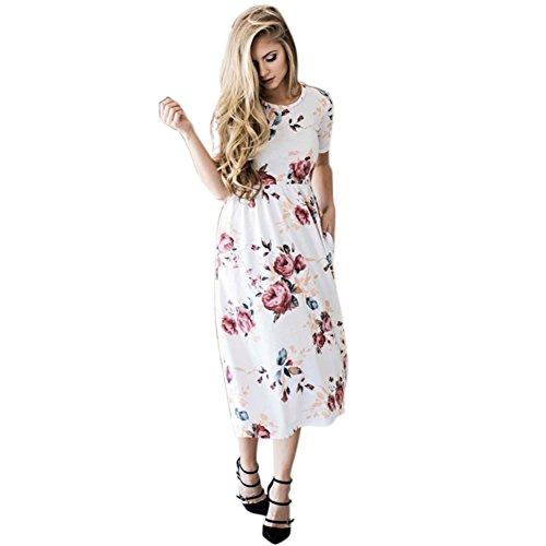 Boho Beach Dress Short Women Sleeve Sundress Casual Party Daxin Floral Midi AqEBR