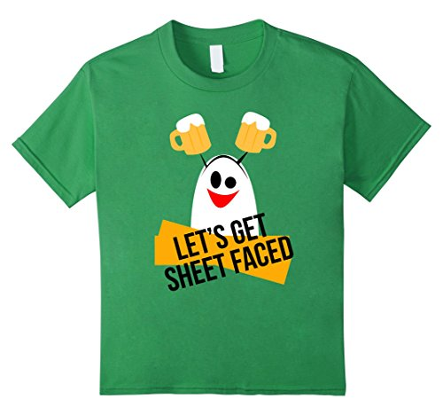 Kids Let's Get Sheet Faced Ghost Halloween Costume T-Shirt 10 (Bar Crawl Costume Ideas)