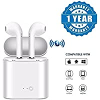 Olectra Dacom Twin True Wireless Bluetooth 4.2 Airpod Earphone Suitable with All Android Or iPhone Devices (1 Year Warranty, Colour-White)