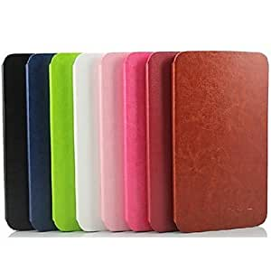 TOPAA Simple Fashion Ultrathin Intelligent Dormant PU Holster Case for Samsung Tab 3 8.0 T310/T311 , Rose