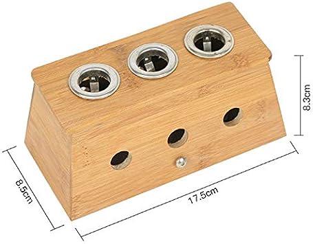 Bambú moxa moxibustión caja de acupuntura Relajación soporte del rodillo del palillo de dispositivos del cuello del cuerpo del brazo del punto de acupuntura masaje Terapia Moxibuting (Color : C): Amazon.es: Salud