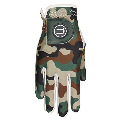 Uther Men's Camo Golf Glove - Durable AAA Cabretta Leather and Proprietary Cool-Stretch Material (Small, Worn on Right Hand)
