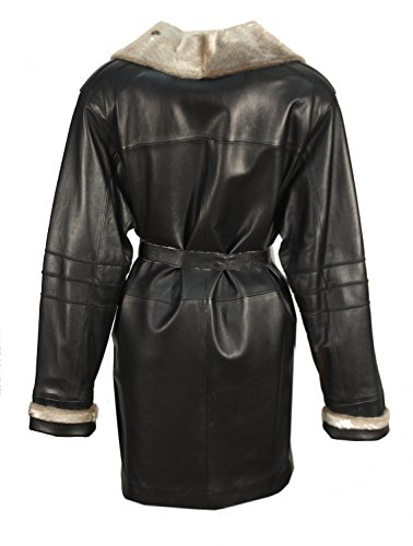 Lissandy - Abrigo - trenca - cuello mao - para mujer negro