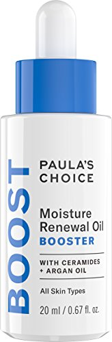Paula's Choice-BOOST Moisture Renewal Oil Booster Face Oil with Ceramides & Argan Oil, 0.67 oz (1 Bottle) Fragrance Free Oil Blend for Dry Skin