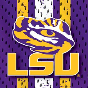 LSU Jersey Design on Black OtterBox Defender Series Case for iPhone 6 Plus and iPhone 6s Plus