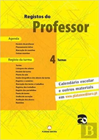 Registos do Professor 4 Turmas (Portuguese Edition): Plátano ...