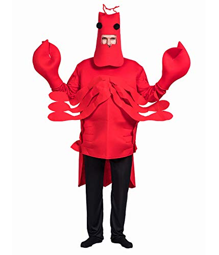 EraSpooky Adults' Costume Halloween Lobster Mnes Mascot Lightweight Womens Onesies Costumes - Funny Cosplay Party -