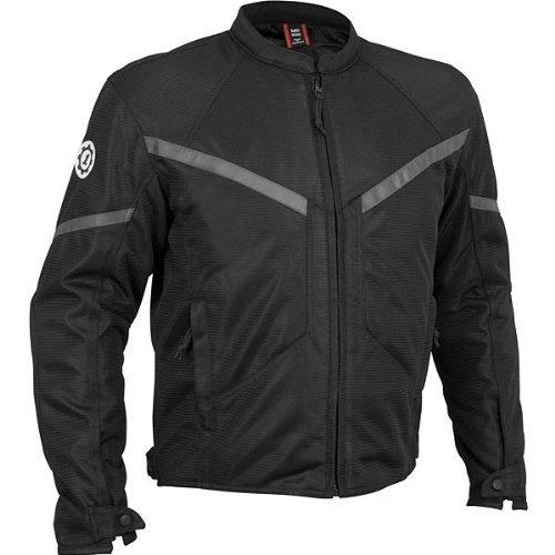Rush Mesh Jacket - FirstGear Rush Men's Mesh On-Road Motorcycle Jacket - Black / Large