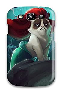 For EuniceNSmith Galaxy Protective Case, High Quality For Galaxy S3 Grumpy Cat Tardar Skin Case Cover
