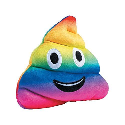 Fun Express Rainbow Poop Poo Plush - 11 Inches -