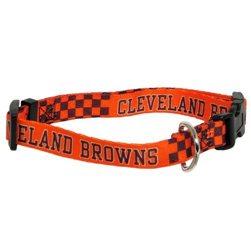 Cleveland Browns Adjustable Pet Dog Collar (Small)