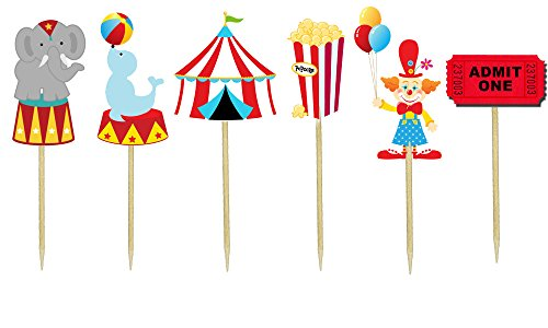Circus Theme Cupcake Toppers (Circus Invite)