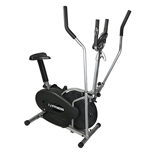 I J Fitness Elliptical Cross Trainer Bike 2 IN 1 Exercise Machine Upgrad Version With Heart Monitor