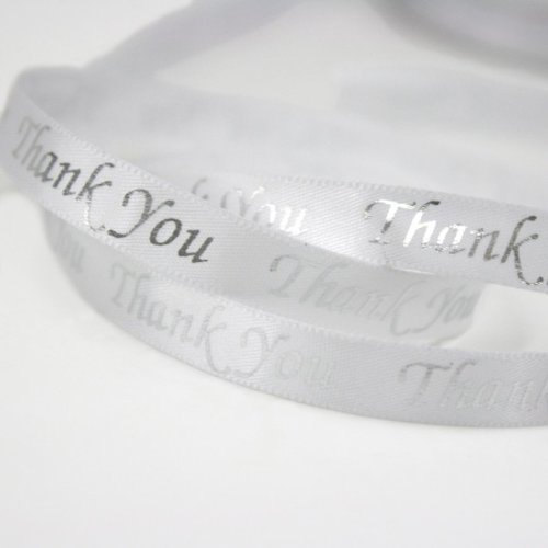 tin Ribbon Pkg of 4 - White/silver ()