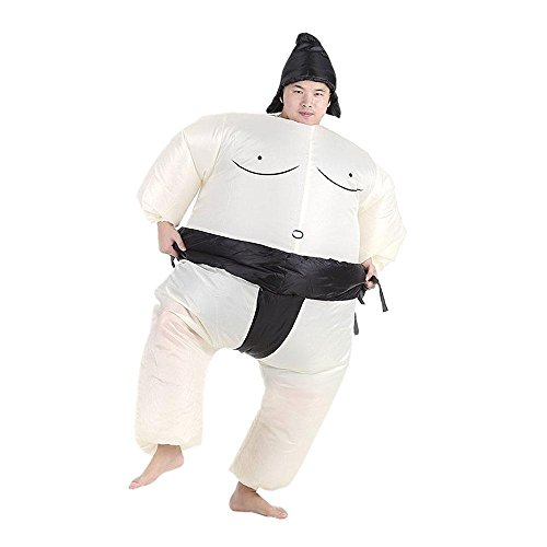 Pawaca Funny Adult Sumo Costume Inflatable Sumo Wrestler Wrestling Suits Halloween Christmas Party Cosplay Fancy Dress]()