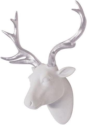 Velvety Silver Antlers Smarten Arts