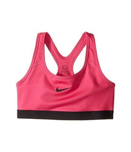 Nike Pro Girl's Athletic Training Fitness Sports Bra (M, 616 Vivid Pink) (3 Pack)